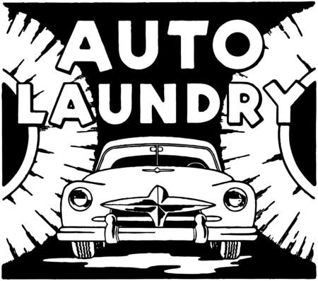 Auto Laundry Vector