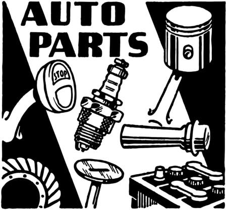 piezas coche: Refacciones Vectores