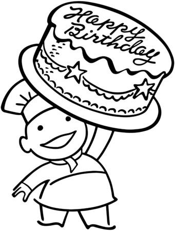 rotund: Baker With Birthday Cake