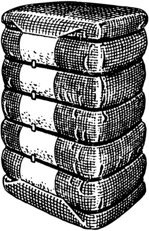 scalable: Bales Of Cotton Illustration