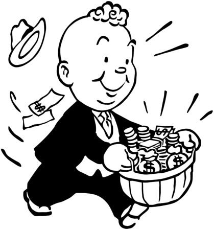 wealthy man: Baskets Of Dough