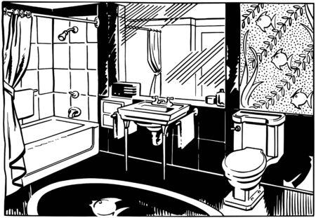 バスルーム 2  イラスト・ベクター素材
