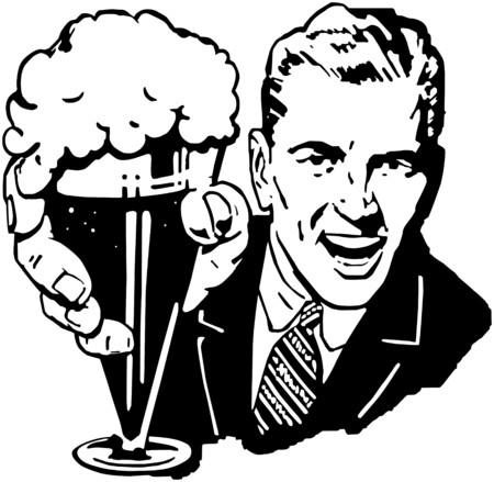 맥주 남자 일러스트