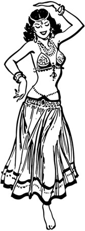exotic dancer: Belly Dancer