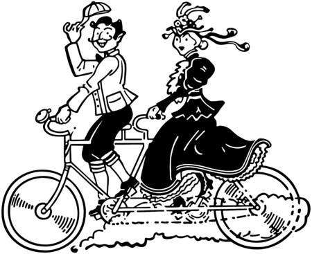 Bicycle Built For Two Vector