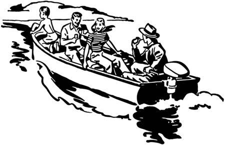 Boat Ride Illustration