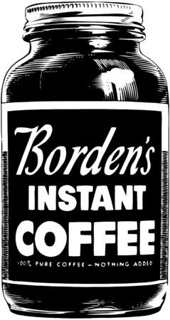 instant coffee: Bordens Instant Coffee