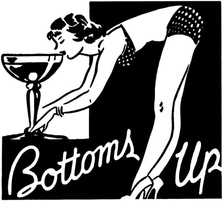 Bottoms Up Stockfoto - 28332492