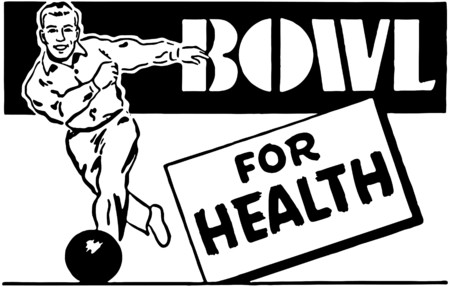 ten pin bowling: Bowl For Health 3 Illustration