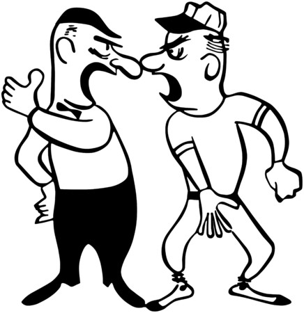 tough man: Arguing With The Umpire Illustration