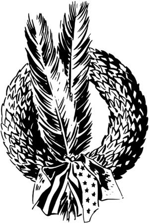 armistice: Armistice Wreath And Feathers