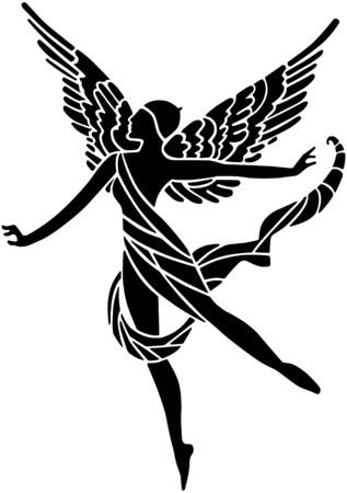 fairy vector: Art Deco Winged Goddess