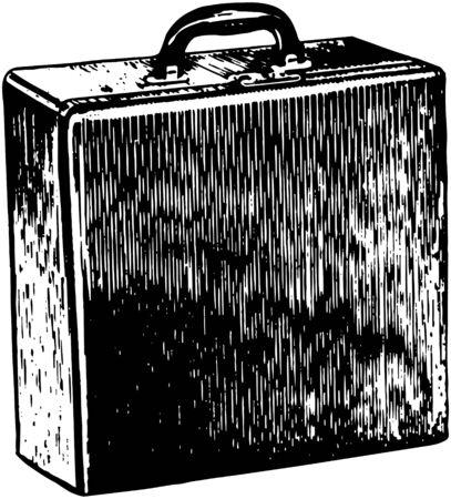 attache: Attache Suitcase Illustration
