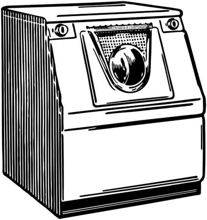 Automatic Washer 2 Stock Illustratie