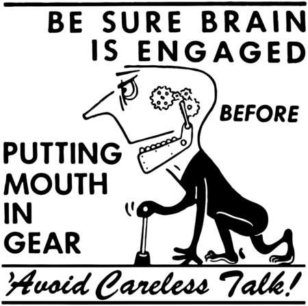 descuidado: Evite conversa descuidada
