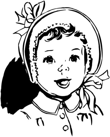 Baby With Round Bonnet