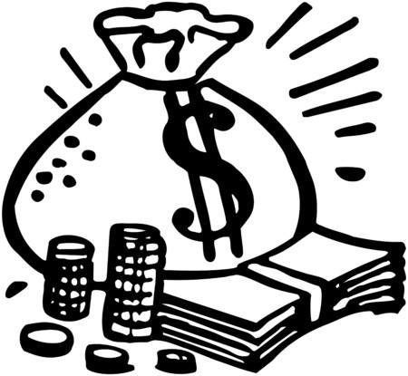 Bag Of Money Stock Illustratie