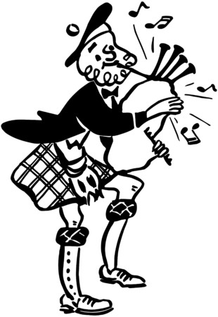 scottish: Bagpiper 2 Illustration