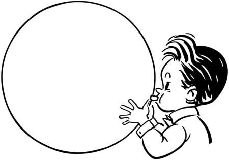 chewing gum: Balloon Boy Illustration