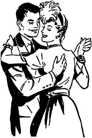 ballroom dance: Ballroom Dancers 3 Illustration