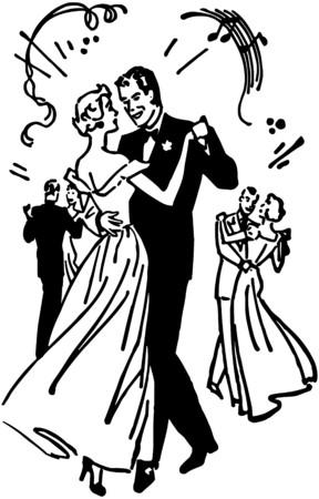 Ballroom Dancers 4 Stock Vector - 28332615