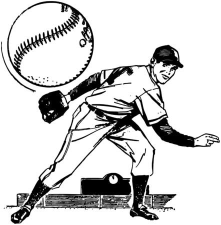 Baseball Pitcher Vector