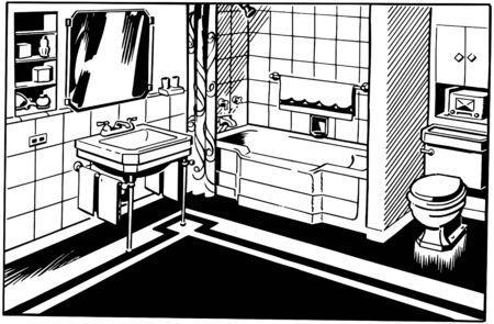 浴室 1  イラスト・ベクター素材