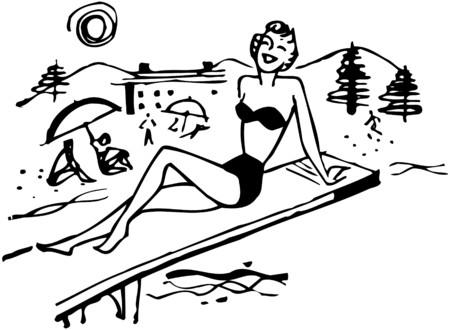 sun tanning: Beach Gal