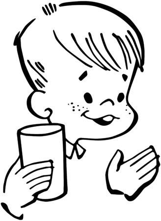 Boy With Cup Ilustração
