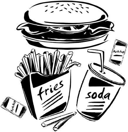 Burger, Fries & Soda Vector
