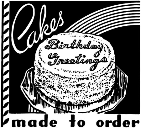 Cakes Made To Order Vector