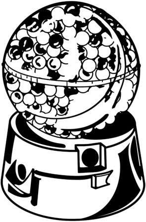 chewing gum: Candy Gumball Machine Illustration