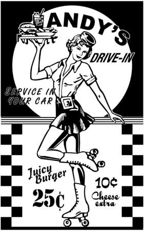 Carhop Stock Illustratie