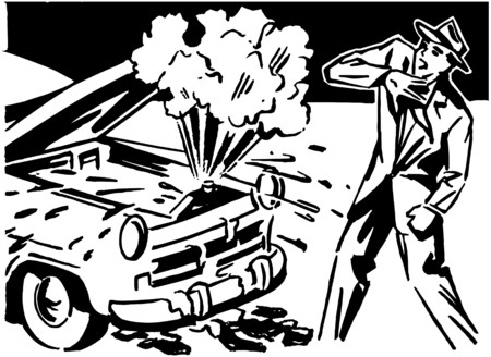 motorists: Car Trouble Illustration