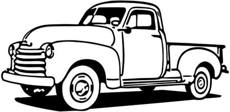 レトロ: シボレーのピックアップ トラック