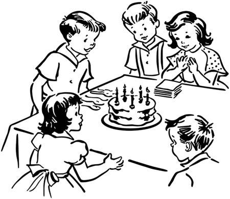 Childrens Birthday Party Illustration
