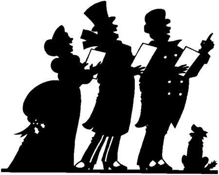 silhouettes: Christmas Carolers 2