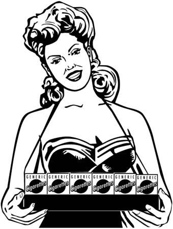 Cigarette Lady Vector