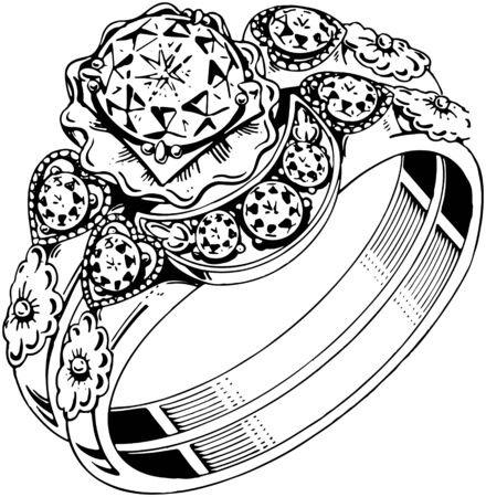 clustered: Clustered Diamond Ring Illustration