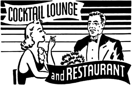 Cocktail Lounge And Restaurant Vector