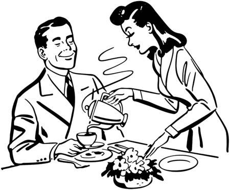 pareja comiendo: Café para Hubbie