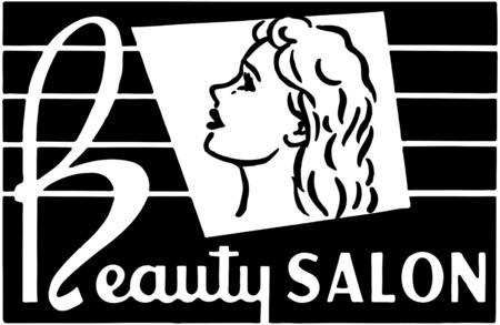 美容室 4  イラスト・ベクター素材