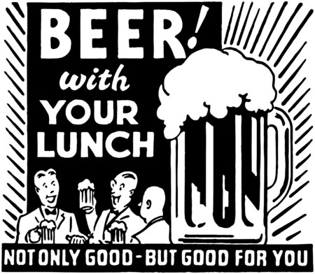 Beer With Your Lunch Stok Fotoğraf - 28332908