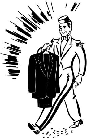 valeting: Bellhop With Clean Suit
