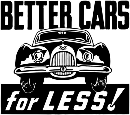 Better Cars For Less Vector