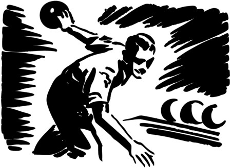 Bowler In Action Ilustracja