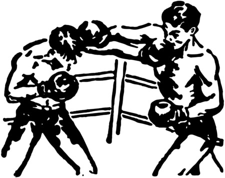 tough man: Boxing Match Illustration