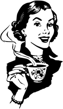 retro woman: Coffee Lady