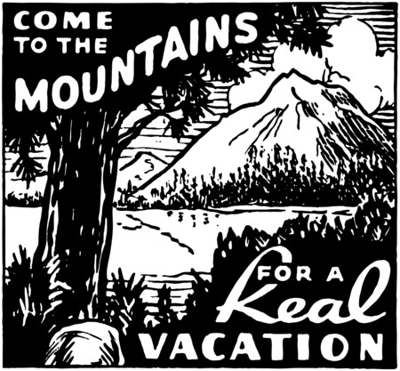 Come To The Mountains Stock Illustratie