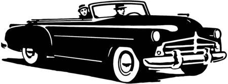 Convertible Cruising Illustration